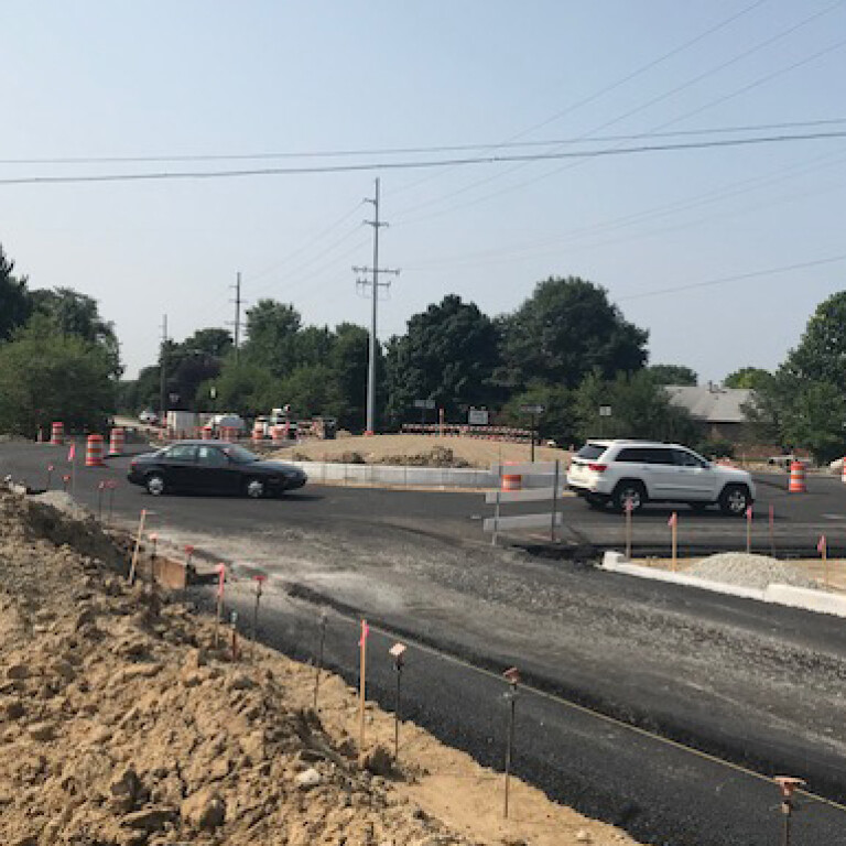 The Carmel site roundabout is open! But...